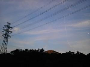秋の夕暮れ時の空