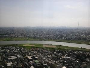 江戸川はさんで東京の街