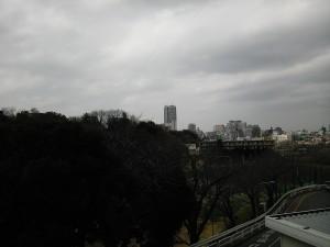曇りだけど、千葉大病院からの眺め