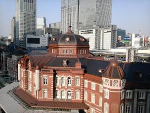 東京駅を一望