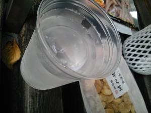 丸氷カップ210円なり。つぼ押さえているっす