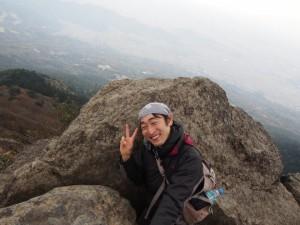 山頂にて・・・