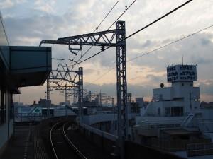 青砥駅からの光景
