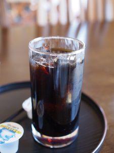 冷たいコーヒーが美味しかった