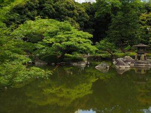 古河邸 心型池