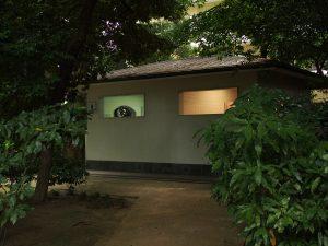 あずま屋の風情 トイレ