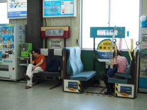 駅ナカ電車座席!!!