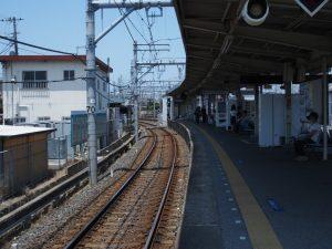 京成幕張駅 ホームのかぁぶ