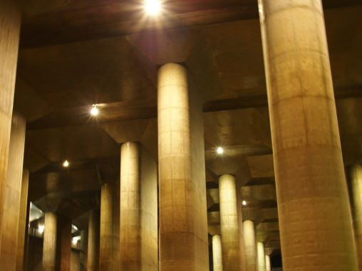 首都圏外郭放水路 調圧水槽