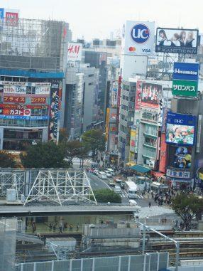 渋谷を見ながら機屋のコーヒー
