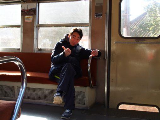 小湊鉄道 車内で2019.1.3