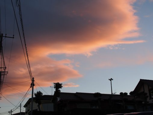 いい夕焼け空