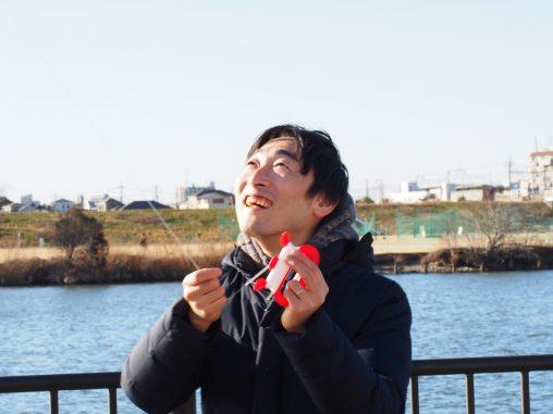 凧揚げ楽しい!!