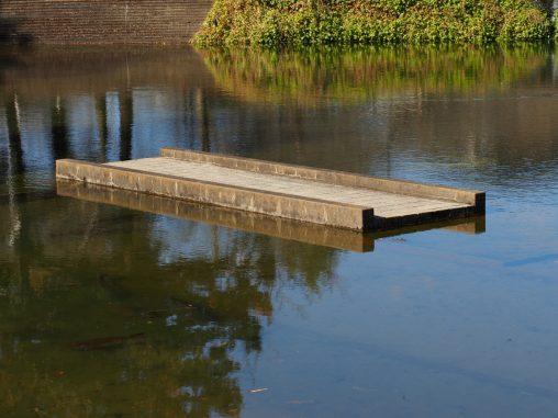 沈む橋の池