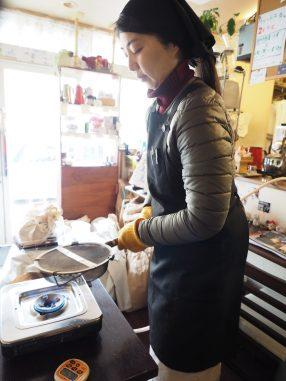 焙煎初めの妻
