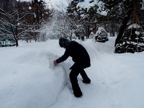 雪の粉が舞う!!