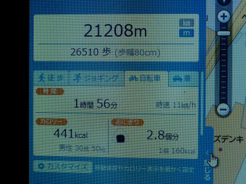 今日も21km
