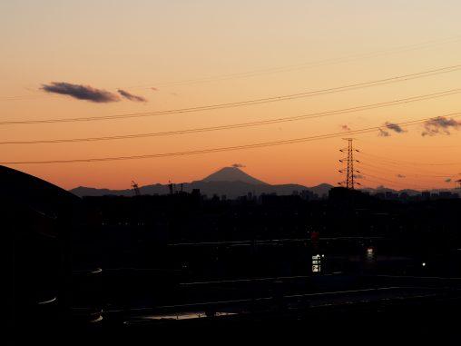 夕暮れ 富士山