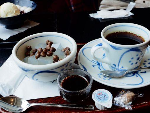 豆かんとコーヒー