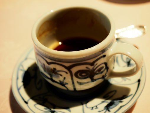 コース最後のコーヒー