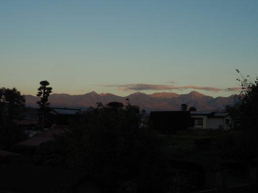 八ヶ岳 夕暮れ