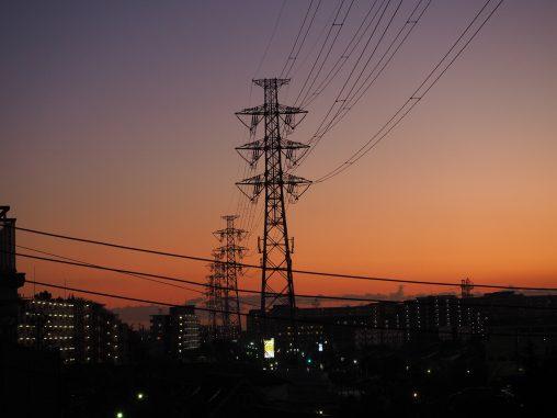 船橋駅方面 夕焼け